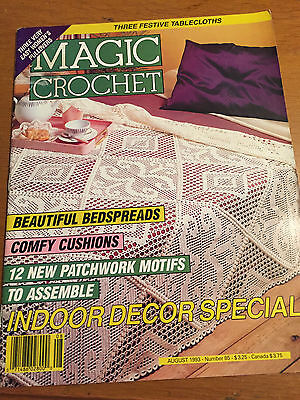 MAGIC CROCHET #85 PATTERN MAGAZINE  1993 Doilies Filet