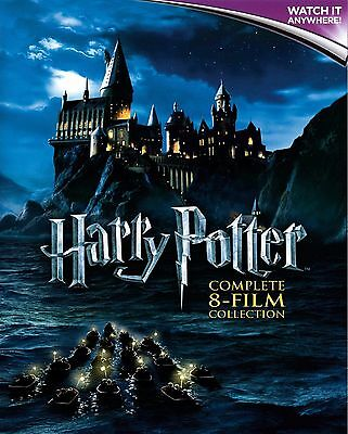 HARRY POTTER COMPLETE COLLECTION * 8 films * Digital HD Ultraviolet Code ONLY *
