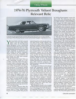 1974 1975 1976  Plymouth Valiant Brougham Article Dart