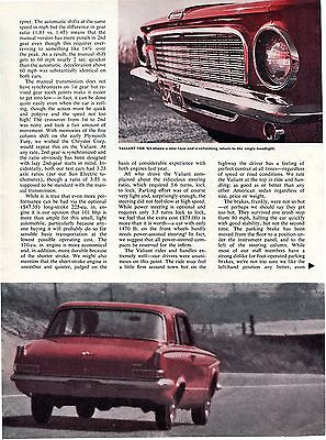 1963 Plymouth Valiant 100 4 Pg Road Test Color Article