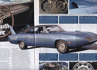 1970  PLYMOUTH ROAD RUNNER SUPERBIRD  Buyers Guide COLOR Article MOPAR
