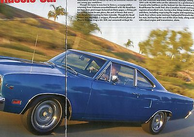 1970 PLYMOUTH ROAD RUNNER COUPE 383 V8  6  pg Color Article MOPAR