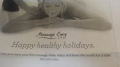 $60 Paper Massage Envy Gift Certificate, free shipping, same business day, USPS