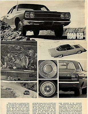 1968 Plymouth Road Runner 4 Pg Road Test Article