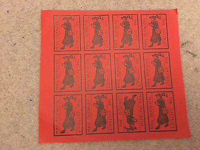 Rare Postal Strike 1971 12 unused mint stamps the district mail outwith