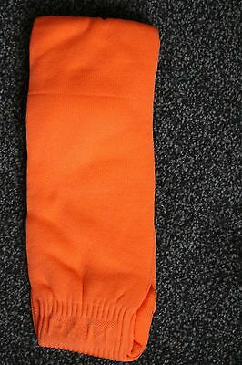 Plain Orange Football Socks Soccer Youth Girls Boys Rugby Sports Hockey 3-6 UK