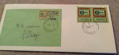 Rare Postal Strike 1971 signed intresting cover Belmont and Sutton green