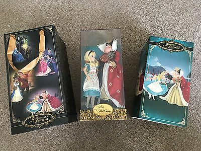 Brand New Disney Fairytale Designer Alice & The Red Queen / Hearts Limited Dolls
