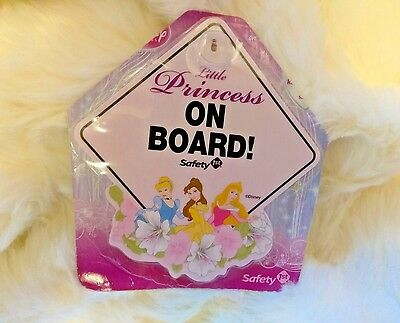 DISNEY PRINCESS Baby On Board Sign with Suction Cup -- 5 in. x 5 in.