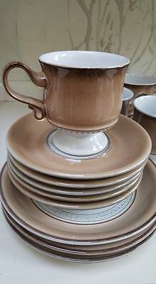 Denby Seville 5 cups and saucers and 3 side plates excellent condition