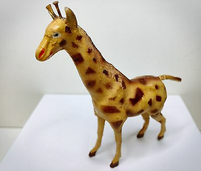 Rare Vintage Composition Giraffe, German Putz Nativity sets, 1890-1910 Germany