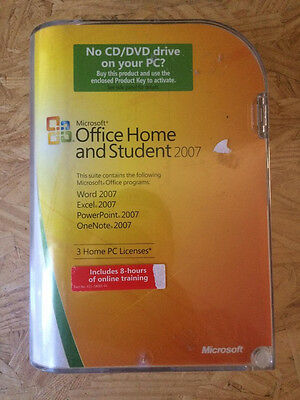 Microsoft Office Home and Student 2007 Full Retail with Product Key PC Windows