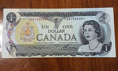 1973 Bank of Canada $1 replacement radar *AA1930391 VF+ - AU