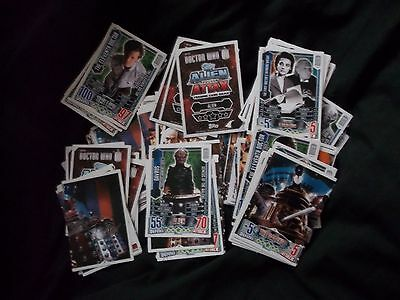 Job Lot Of Approximately 120 Topps Doctor Who Alien Attax Trading Cards
