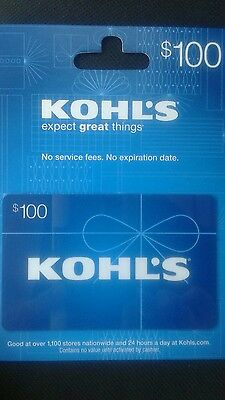 $100 Kohls Gift Card Mail Delivery