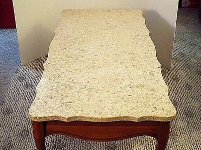 French Provincial Italian Marble Top Vintage Coffee Table,Free Delivery 35 Miles