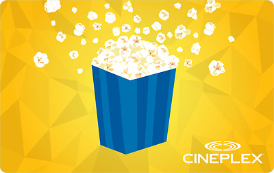 Cineplex Cinema $59.01 Voucher for only $52.01 dollars!! Free Shipping!