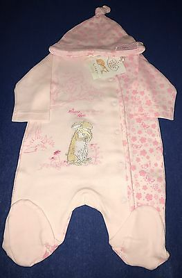 Guess How Much I Love You Newborn Sleepsuit and Hat (Twins) - BNWT