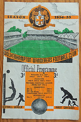 FA CHARITY SHIELD PROGRAMME 1954 Wolves v West Bromwich Albion free p&p