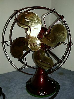 Antique Emerson Fan 29645 Brass Blades