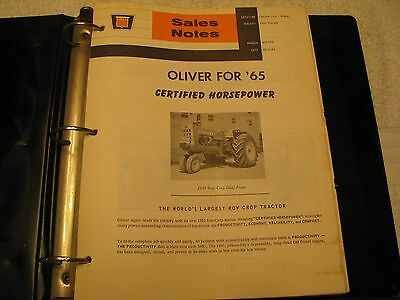 1964-68 Oliver Tractor/Loaders/Cabs Sales Notes RARE FIND!!