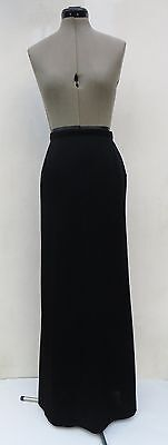 Women's vintage 60's French black crêpe evening maxi skirt,size approx 8
