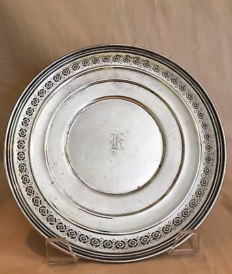 "Vintage Weidlich Solid Sterling Silver Plate 9.25"", 213 Grams, Pattern # 7735"