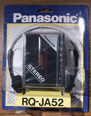 Panasonic RQ-JA52 Stereo Cassette Player and Headphones - NOS