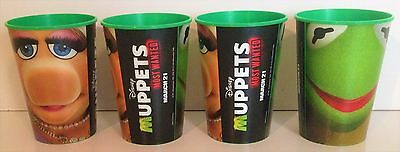 Muppets: Most Wanted Theater Exclusive Promotional 12 Oz Plastic Cups Set of Fou