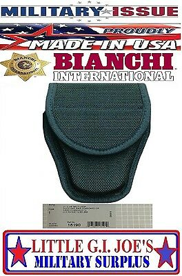 NEW Bianchi 18190 7300 Series AccuMold Covered Handcuff Case MILITARY ISSUE