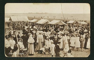 SWANSEA SANDS EARLY 1900,s Vintage Antique POSTCARD  UNPOSTED