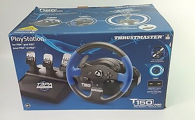 Thrustmaster T150 Pro Racing Wheel 3 Pedals for PS4/PS3 PC- New Open Box