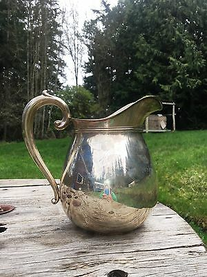 Wallace Sterling Silver Water Pitcher 4-1/2 Pint Good Condition Stamped 260