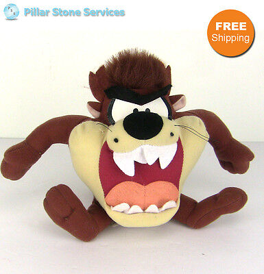 Looney Tunes Tazmanian Devil Warner Bros TAZ Stuffed Plush - FREE SHIPPING