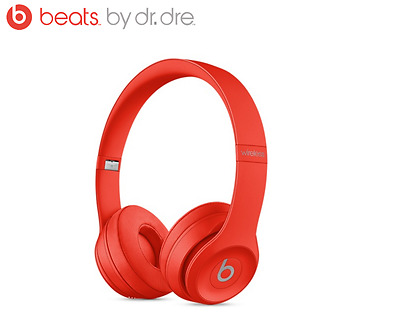 2017 New Beats by Dr Dre Bluetooth wireless SOLO 3 headphones (Red)