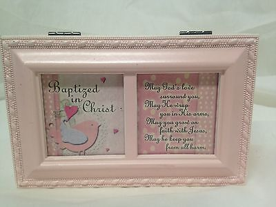 Sanrio Baptized In Christ Photo Frame Baptism Musical Jewelry Box Jesus Loves Me