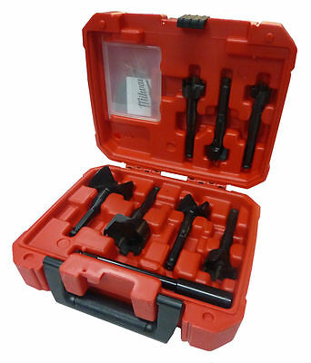 """BRAND NEW"" MILWAUKEE 7 pc. CONTRACTOR SELFEED DRILL BIT SET 49-22-0130 KIT"
