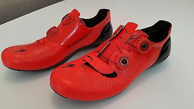 New Specialized S-Works 6 Red Size 42.5 Road Carbon Shoes (Worldwide Shipping)
