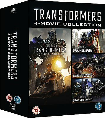 Transformers Quadrilogy 1 2 3 4 Complete Collection New & Sealed DVD Box Set