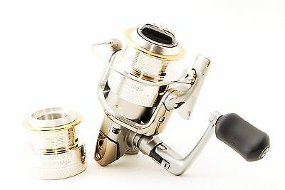 SHIMANO Twin power 3000Mgs w/Spare Spool Spinning reel USED from Japan #C266