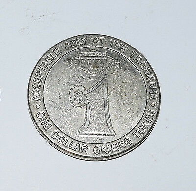 TROPICANA $1 Gaming Token. The island of Las Vegas.