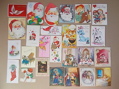 Vint Lot Of 150+ Greeting Cards Fronts Only Scrapbooking Collage Arts & Crafts E