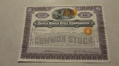 Stock Certificate, United States Steel Corporation, 1938, New Jersey