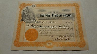 Stock Certificate, Green River Oil and Gas Company, 1920, Kentucky