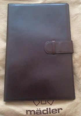Leather Business Portfolio Notebook Folio Writing Pad MADLER Made In Germany