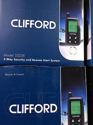 New 5325X Clifford Viper 2-Way Remote Start Car System 1 Mile Range Lcd Screen