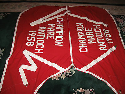 Champion Mare Antioch 1958 Horse Blanket