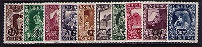 Austria Semi-Postal Stamps, SC# B208-17 Cpl. MLH Set Cat.$4.5