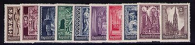 Austria Semi-Postal Stamps, SC# B189-98 Cpl. MLH Set Cat.$11