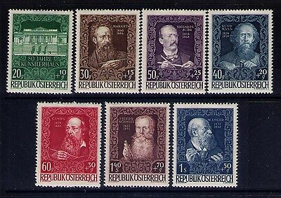 Austria Semi-Postal Stamps, SC# B245-51 Cpl.MH Set Cat.$43